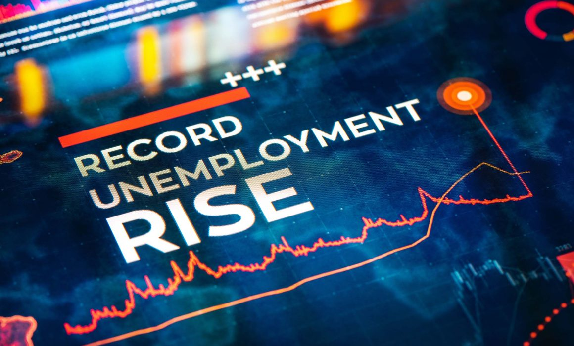 Record Unemployment Rise Statistics with Charts and Diagrams